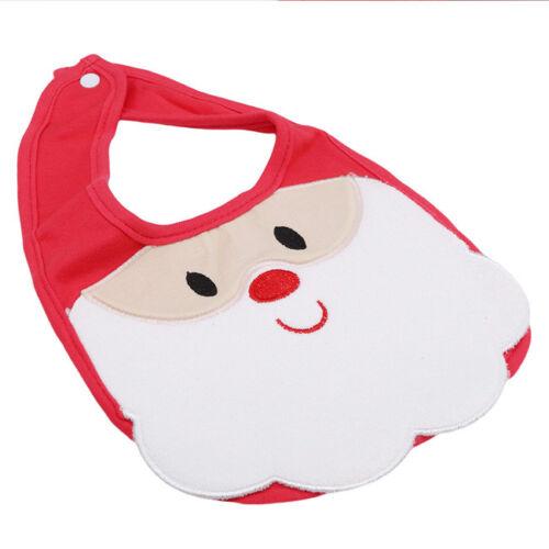 Christmas Newborn Cartoon Bibs Cloth Hem Saliva Towel Easy Clean Scarf N7