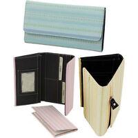Striped Trifold Checkbook Women's Wallet