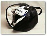 GO KART RACING HELMET FLEECE LINED BAG BLACK ZIPPER PROTECTION COVER STORAGE NEW