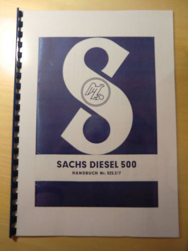 Handbuch Sachs Diesel 500 -/> Motor von Holder ED2 B10 A10 Monax Fahr KT10