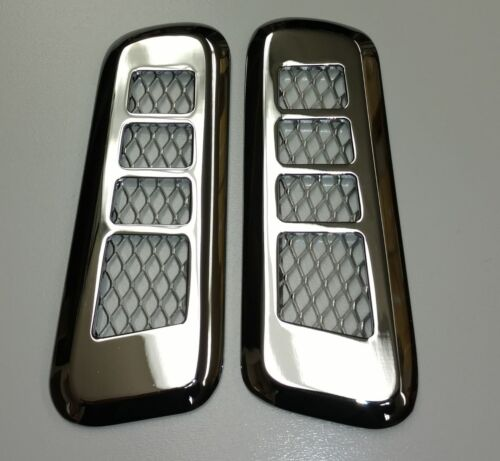 H2 Hummer Smooth Chrome Billet Interior Door Vent Bezel Set
