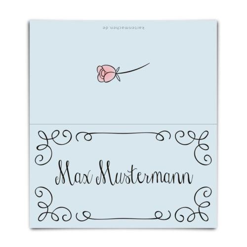 Hochzeit Tischkarten Platzkarten Namenskarten Karten individuell Küssendes Paar
