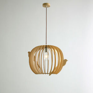 Details About Anese Wooded Bird Cage Pendant Light Nordic Bamboo Chandelier Ceiling Lamp