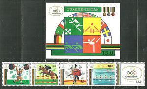 TURKMENISTAN-22-23-MNH-BARCELONA-SUMMER-OLYMPICS-SCV-19-25