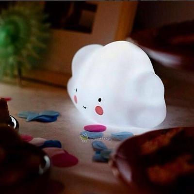 Lovely Cloud Kids Baby Children Portable LED Night Light Nightlight Lamp Decor