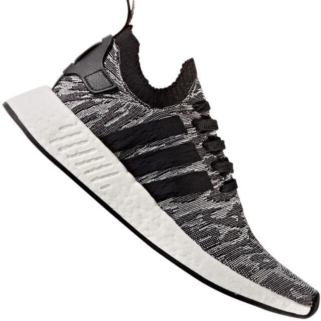10abaeb4e7852 adidas NMD R2 PK Black BY9409 Primeknit Trainers Shoes Originals 46 ...