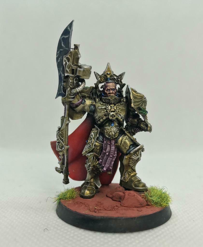 Warhammer 40k 30k Legio Custodes Shield Captain (Pro-Painted)   benvenuto per ordinare