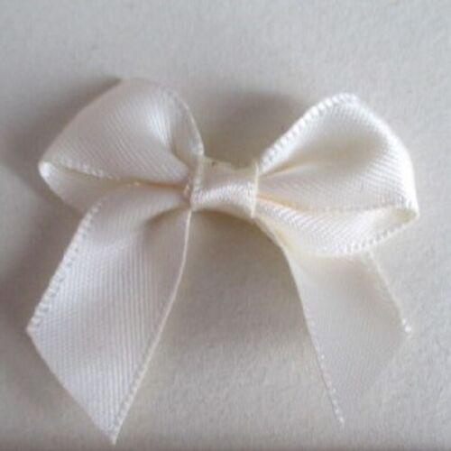 100 ROYAL BLUE SATIN BOWS SUITABLE WEDDING INVITATIONS CARD MAKING CRAFTS