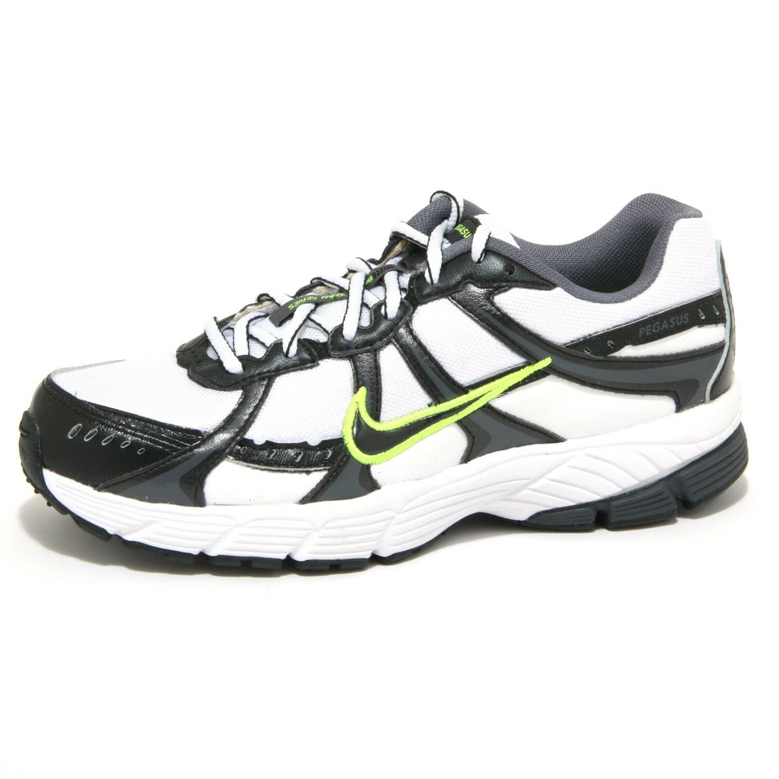 Zapatos promocionales para hombres y mujeres 1276O sneaker NIKE AIR PEGASUS bianco/nero scarpe donna shoes women