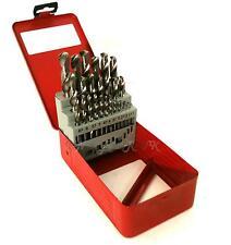 25PC Precision HSS 135º split point 1-13mm drill bit set metal case PROFESSIONAL
