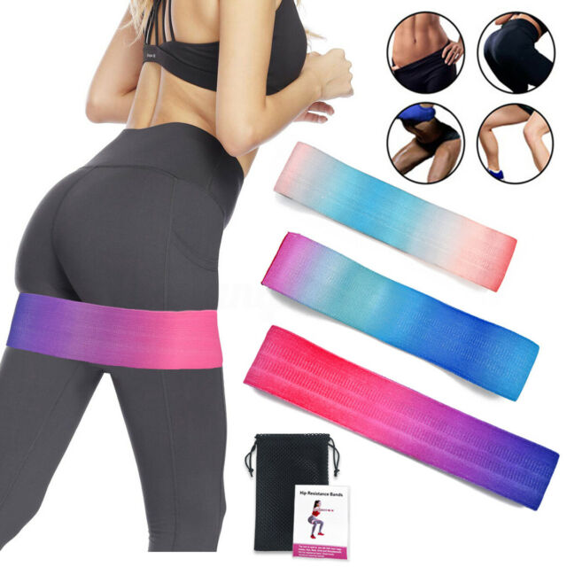 Resistance Bands Heavy Duty Booty Band Non Slip Fabric Glute Loop Hip Circle $L