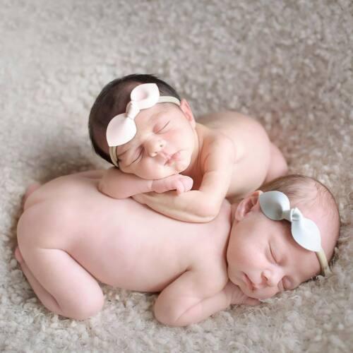 California Tot Nylon Headband Newborn Infant Baby Toddler Rabbit Ear Bow Pastel