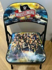 WWE-WrestleMania-36-Chair-RARE-Ringside-Collectable-WWF-Wrestling-Memorabilia