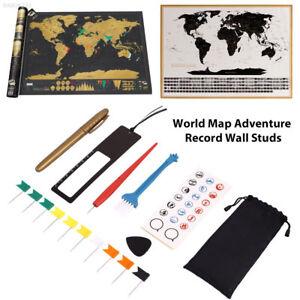 44A6 Diy Scratch Pen Set Scratch Map Tool Set Markers Stickers Maps Accessories 691216166736