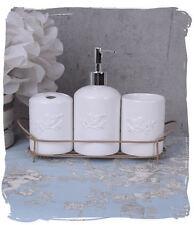 Badezimmerset badserie porcelana Weiss WC dispensador