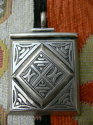 Old Moroccan silver amulet pendant