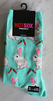 Light Blue White Rabbit Bunny Carrot Socks Womens Hot Sox