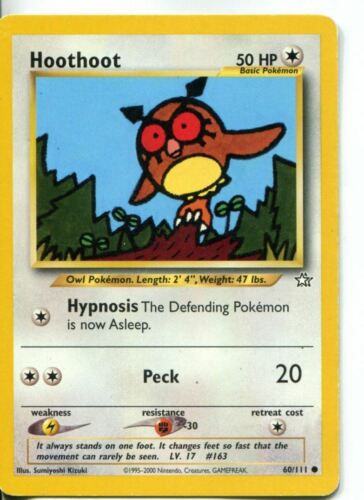 Pokemon Neo Genesis Common Card #60//111 Hoothoot
