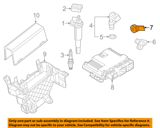 OEM MINI 2007 to 2013 Cooper S Turbo Knock Sensor 13627552114