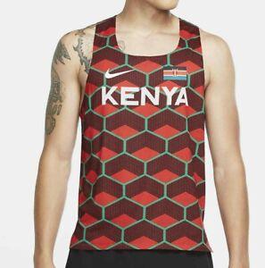 NIKE Dri Fit ADV Team Kenya Aeroswift Running Top Red CV0371 673 - Med New