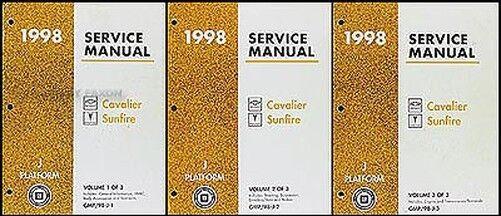 1998 Chevy Cavalier Pontiac Sunfire Negozio Manuale Set Riparazione Servizio Z24 Luminoso E Traslucido Nell'Apparenza