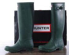 Hunter Green Matte Rubber Rain Boots Original Tall Women's Size 7 MED W23177 NEW