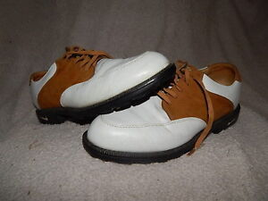 Details about NIKE AIR Bella Last womens golf shoes 7.5 M white brown 001202 cleats