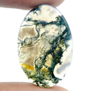 Cts-26-25-Natural-Designer-Moss-Agate-Cab-Oval-Cabochon-Loose-Gemstone