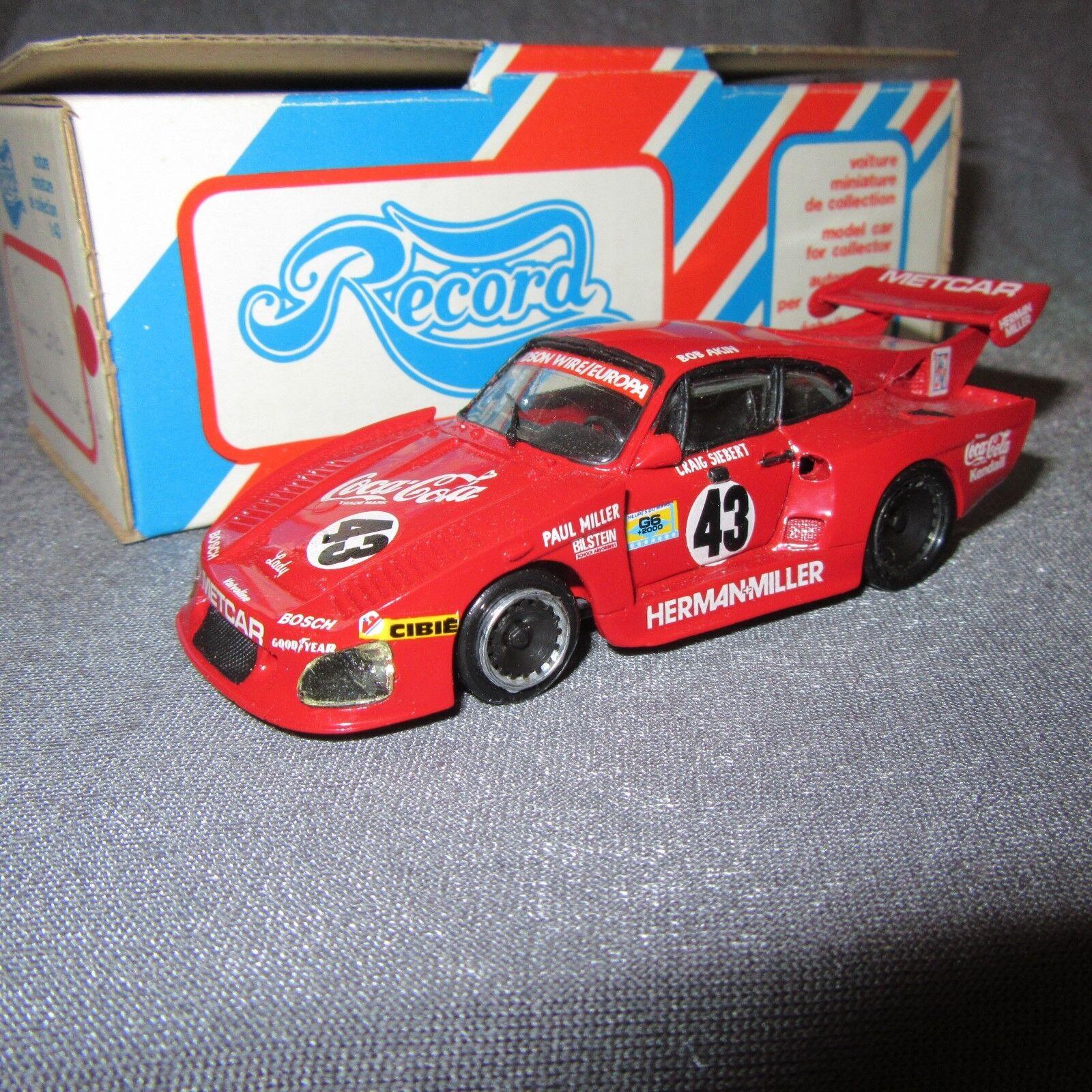 78F Record Porsche 935 Turbo K3 LM 1981   43 Akin 1 43 Kit Résine