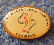 WORLD CHAMPIONSHIPS JUNIOR FIGURE SKATING BULGARIA SOFIA 2001 PIN BADGE