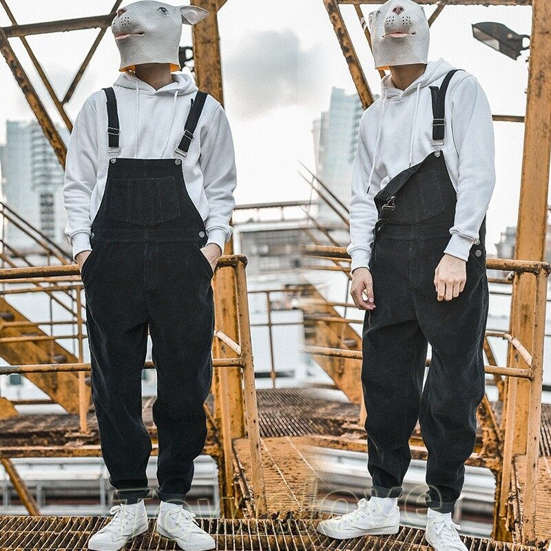 superior performance quality first 50% price Details about Mens Retro Fashion Corduroy Casual Overalls Jumpsuits  Dungarees Suspenders Pants