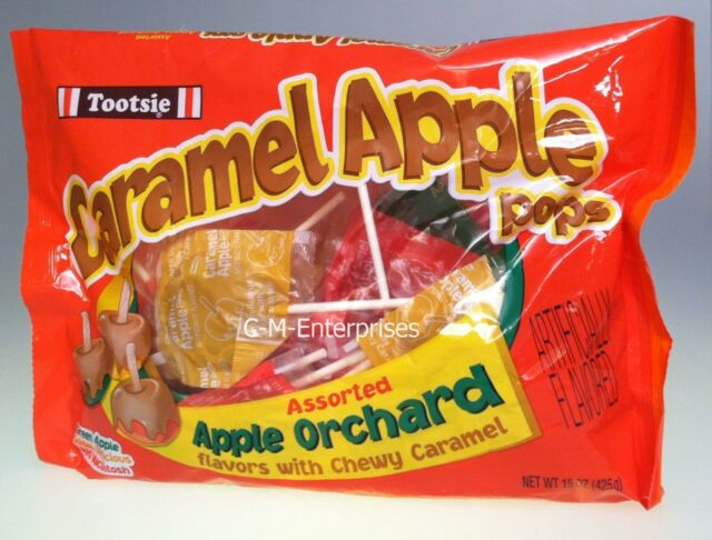 Tootsie Caramel Apple Pops Apple Orchard Mix 15 oz bag