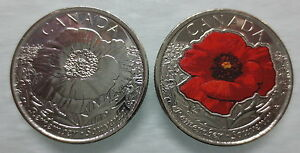 2015-CANADA-25-IN-FLANDERS-FIELDS-POPPY-COLOURED-AND-NON-COLOURED-COINS