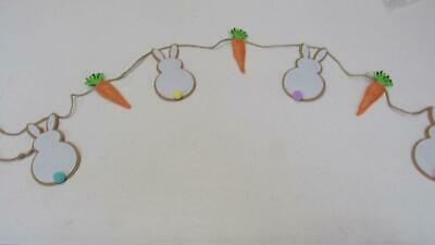 """EASTER Garland Banner 9 Carrots Strung W//Twine 72/"""" Long NEW"""