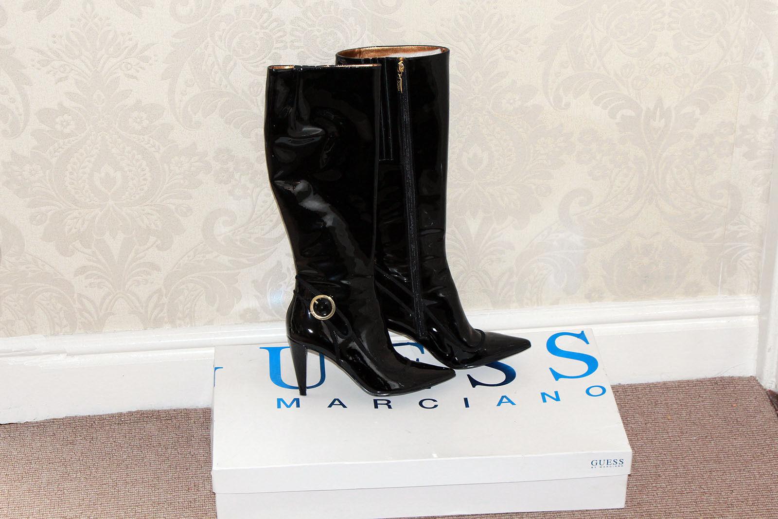Guess Damas botas Negro euros en Caja