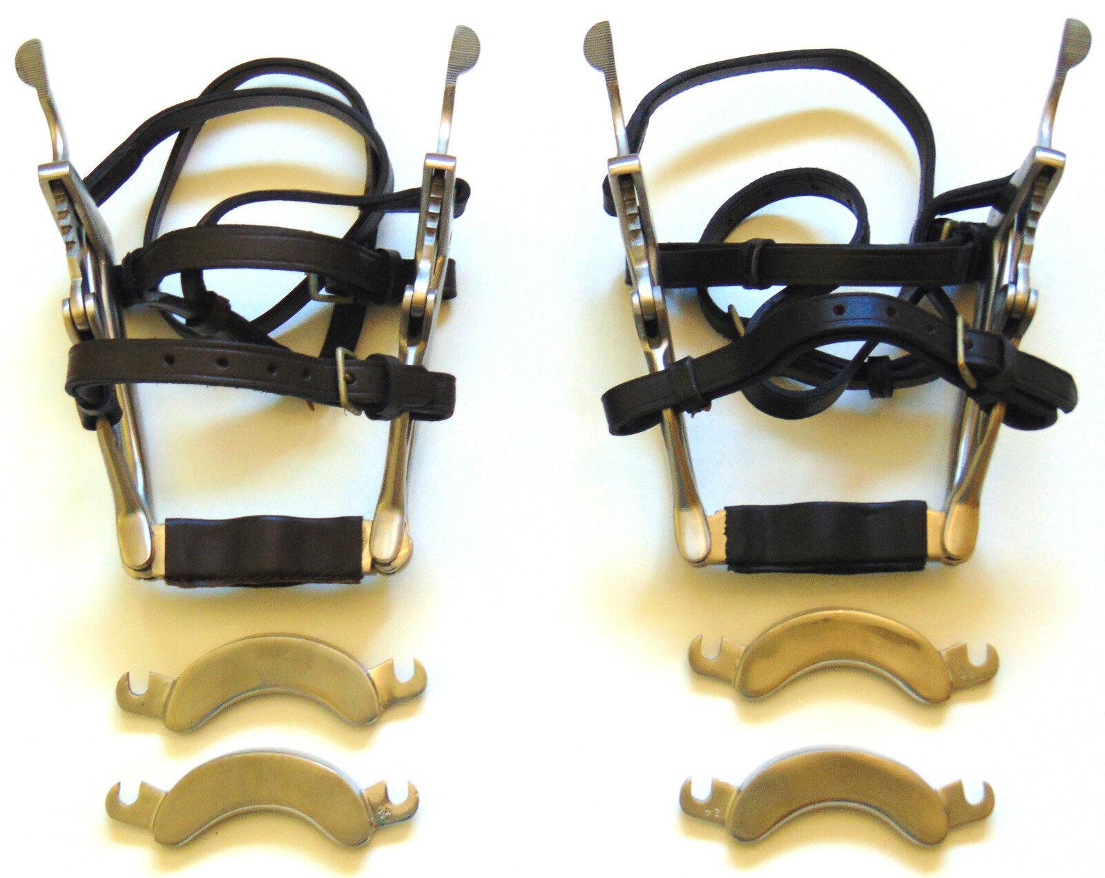SPECULUM Dentale Equino Bocca Gag Cavallo in acciaio inox con punte di ricambio