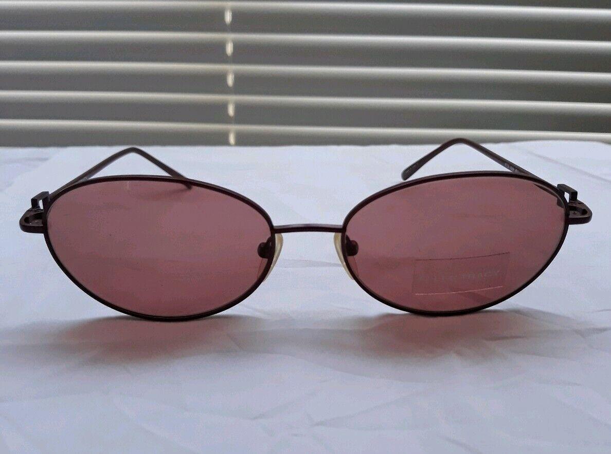 Ellen Tracy Women Oval Red Crystal Metal Sunglasses