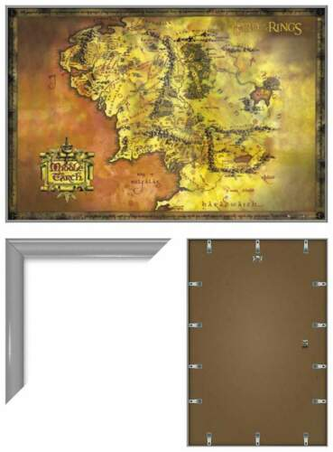 THE LORD OF THE RINGS CLASSIC MAP OF MIDDLE EARTH FRAMED MOVIE POSTER PRINT
