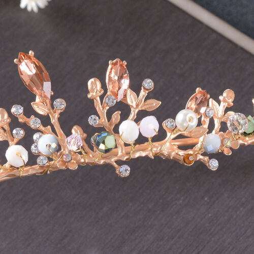 Lovely Flower Crystal Wedding Bridal Party Pageant Prom Tiara Necklace Earrings