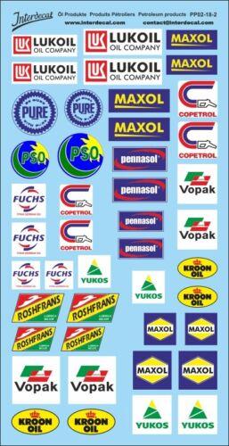 Öl Produkte 2 Sponsoren Decal Naßschieber Abziehbild 1//18 PP02-18-2 195x10 mm