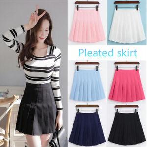 Women-Preppy-Style-Pleated-skirt-JK-uniform-A-line-skirt-students-Tennis-skirt
