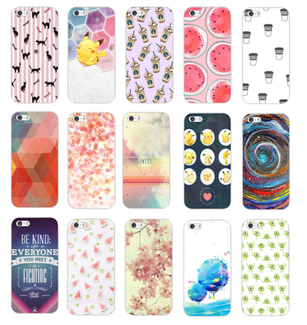 New Stylish Cute Design Pattern Hard Back Case Cover For iphone 5 5S 5C 6 6 Plus