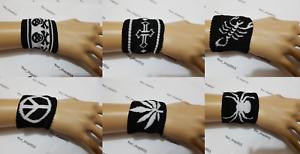Kids symbole Extensible Bracelet Bandes Poignet éponge crâne, feuille, Scorpio, cross  </span>