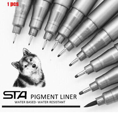 0.05-0.8mm STA Pigment Ink Liner Pen Micro Waterproof Black Drawing Sketch Pen