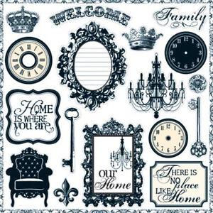 Teresa-Collins-Welcome-Home-Chipboard-Elements-Scrapbooking-Craft-Home