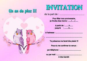 5 Ou 12 Cartes Invitation Anniversaire Amitie Ref 381 Ebay