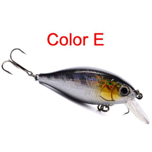 5//10PCS Set Fishing Lures 7CM Crankbaits Swimbait Minnow Baits Lures Bass Salmon