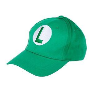 Image is loading Luigi-Hat-Cap-saga-mario-bros-see-photos- 88f2d203533