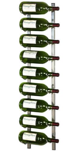 9 Bottle Magnum VintageView® Metal Wall Mounting Wine Rack Nickel Finish