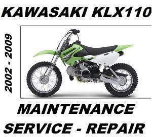 Kawasaki-KLX110-KLX-110-Service-Repair-Maintenance-Rebuild-Manual-2002-to-2009